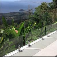 Buy cheap New hot toughened frameless glass balustrade with stainless steel spigot from wholesalers