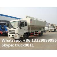 Wholesale dongfeng Cummins190 20cbm Euro 3 bulk feed truck for sale, poultry and livestocks farm-oriented feed transported truck from china suppliers