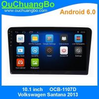 China Ouchuangbo 10.1 dvd video player for Volkswagen Santana 2013 with AUX 3g wifi calculator  steering wheel control on sale