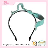 Wholesale Turquoise / White Velvet Hair Bows Flower Girl Headband customized styles from china suppliers