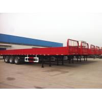 Wholesale 40 feet-3 Axles-40T-Rail Side Flat Bed container semi trailer from china suppliers