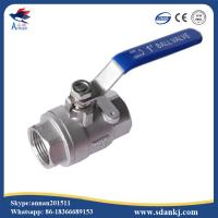 Wholesale High quality 2 pcs thread connection flat lever handle cf8m stainless steel water gas ball valve from china suppliers