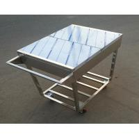 Wholesale Stainless Steel Kitchen Condiments Trolley For Wok Stove with 12 Containers Capacity from china suppliers