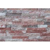 Wholesale Peach Quartzite Thin Stone Veneer,Indoor Stacked Stone Wall Panel,Outdoor Culture Stone Cladding from china suppliers