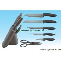 Wholesale kitchen stainless steel knife set with block from china suppliers