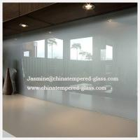 Wholesale Single Acid Etched with White Printing Glass SplashBack from china suppliers