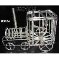Quality METAL WIRE TRAIN IN SILVER PLATED, CANDY BOXES FOR HOLIDAYS, HOME DECOR, WIRE CRAFT,ORNAMENT for sale