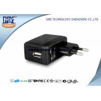 Wholesale EU Switching AC DC Power Adapter , 1A Universal Wall Adapter Usb Lightweight from china suppliers