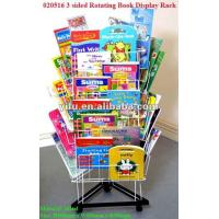 Wholesale 3 sided Rotating Book Display Rack from china suppliers