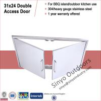 Wholesale Stainless steel grill island door, storage cabinet door, built-in from china suppliers