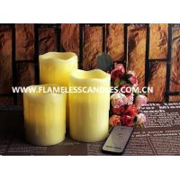 Wholesale Beeswax Drip Flameless Pillar Candles with On / Off Button Remote Control LED Candle from china suppliers