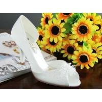 Wholesale China Wedding Shoes / White Elegant Bridal Shoes with Heel  for Wedding from china suppliers