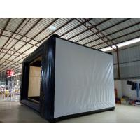Wholesale 0.9mm PVC Tarpaulin Multifunction Office Projection Movie Screen Black / White from china suppliers