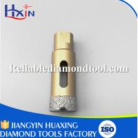 Quality Brazed Diamond Core Drill Bit Diameter for 20mm for Stone/Ceramic/Glass Golden for sale