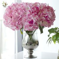 Wholesale UVG FHY113 Flower arrangements with artificial hydrangea florist for bride wedding bouquet from china suppliers