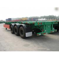 Wholesale 40 Feet Container Carrying Flat Bed Semi Trailer With JOST Landing Leg / semi flatbed trailers from china suppliers