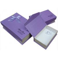 Buy cheap Purple Biodegradable Cardboard Flat Pack Gift Boxes Varnishing For Makeup Products from wholesalers