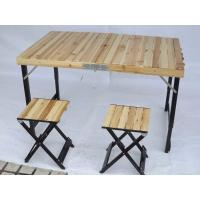 Wholesale Lightweight Camping Wood Folding Table And Chairs Set For Garden Leisure from china suppliers
