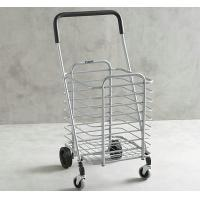 Wholesale Powder Coated Metal Display Stands , Foldable Shopping Cart for Supermarket from china suppliers