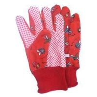 Wholesale XL Red color canvas domestic pvc dotted childrens gardening glove with logo from china suppliers