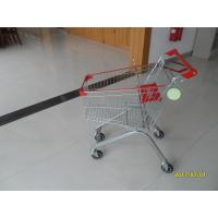 Quality 60L Supermarket Shopping Carts / Metal Shopping Trolley Loading 60KGS for sale