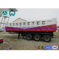Wholesale Mechanical 35T Q610 Shock Proof Tipper Semi Trailer  , 2 Axle Trailer from china suppliers