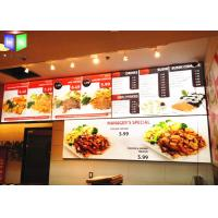 Wholesale Restaurant Curved Menu Boxes Lighted Menu Board Environmental Protection from china suppliers