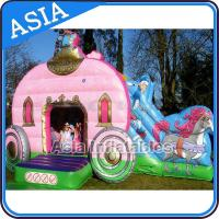 Wholesale Inflatable Royal Carriage Moonwalk Bouncer For Children Party Hire Games from china suppliers