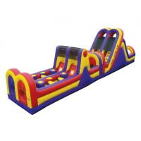 Wholesale Stimulus Funny Playground blow up obstacle course Waterproof PVC material from china suppliers