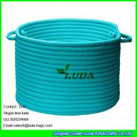 Wholesale LUDA 2016 new products round blue cotton storage basket from china suppliers