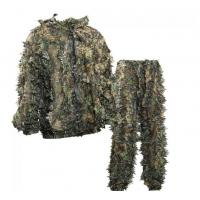 China OEM Sneaky 3D Leafy Hunting Suit 3D Leaf Camouflage Leafy Ghillie Suit for sale