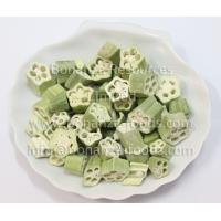 Quality Chinese supplier Freeze Dried Okra Cross Cut for sale