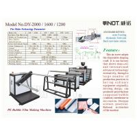Buy cheap Series of Air Bubble Film Making Machine  Customized  With bubble Specification ɸ30x10mm Model No. DY-1200 from wholesalers
