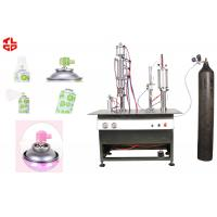 Wholesale Semi Automatic Aerosol Filling Machine For Breathing Fresh Air Spray Can from china suppliers