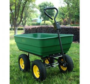 Wholesale dump cart TC4253 garden tool cart caster rubber wheel hand trolley truckwheelbarrow from china suppliers