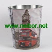 Wholesale London Bus big ben telephone booth design metal tin storage bucket storage container from china suppliers