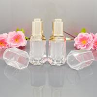 Wholesale 10mL clear acrylic essential oil bottle with glass dropper, flower basket cap for perfume from china suppliers