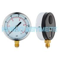 Quality 100mm Bottom Type General Pressure Gauge Black Steel Case With Chrome Bezel for sale