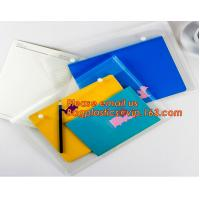 Wholesale OEM Office stationery filing supplies plastic document pp envelope carrying file folder bag with button closure from china suppliers