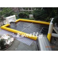 Wholesale New Design Inflatable Water Football Pitch,Inflatable Water and Soap Football Playground Yellow and Black Color from china suppliers