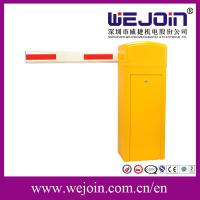 Quality Security Straight Barrier Gate With Yellow Cabinet and Steel-casting Design for sale