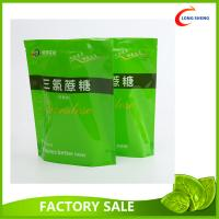 Quality Resealable Zip Top Plastic Stand Up Bag , Spring Tea Packaging Plastic Bag for sale