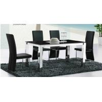 Wholesale classic black dining set, dining table, glass table, luxury dining chairs, #6011 from china suppliers
