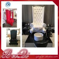 Buy cheap china factory wholesale Popular high back throne pedicure chair spa luxury white color from wholesalers