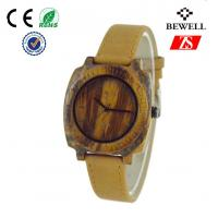 Wholesale Genuine Leather Band Wooden Wrist Watch For Man , Wooden Mens Watch from china suppliers