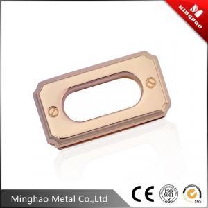 Wholesale Zinc alloy metal rectangular eyelets,custom handbag gold eyelets 34.52*18.7mm from china suppliers