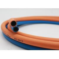 Quality 20 Bar I.D 5 / 16 Inch Twin Gas Hose OD 15mm Grade R ISO 3821 for sale