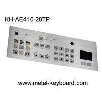 Wholesale Touchpad 28 Keys Industrial Metal Keyboard , flat matrix / squre buttons from china suppliers