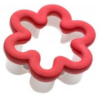 Quality flower shaped tainless steel cookie cutter with silicone edge for sale