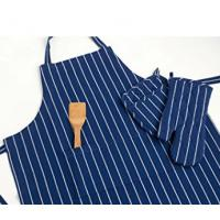 Wholesale 100% Cotton Commercial Stripe Chef Apron with Pocket , Adjustable Neck Strap & Waist from china suppliers